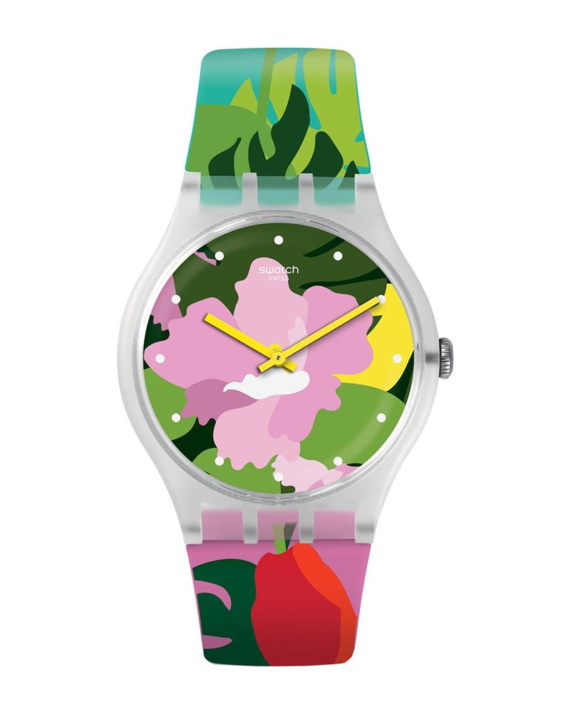 Ρολόι SWATCH Vibe Greenmazing White SUOK132   παιδι παιδικά ρολόγια