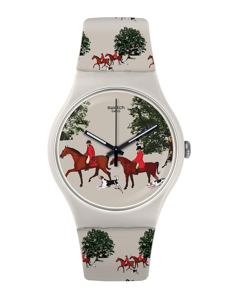 Ρολόι SWATCH Brit-In Quilted Time Multicolor SUOT103   παιδι παιδικά ρολόγια