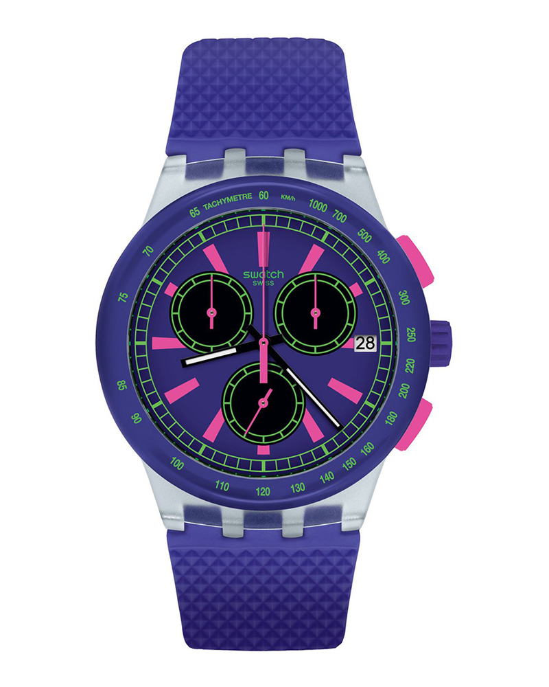 Ρολόι SWATCH Vibe PURP-LOL Chronograph Purple SUSK400   brands swatch