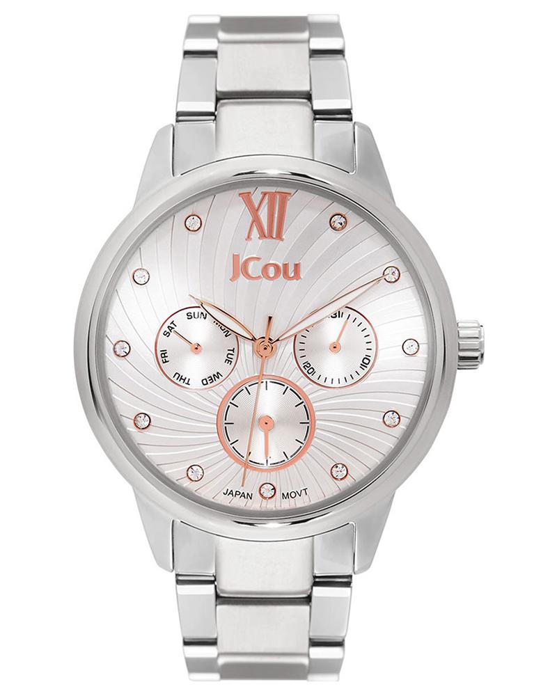 Ρολόι JCOU Galaxy Crystals silver JU17029-1   brands jcou