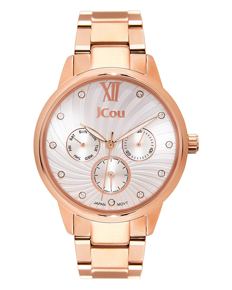 Ρολόι JCOU Galaxy Crystals Rose Gold JU17029-2   brands jcou