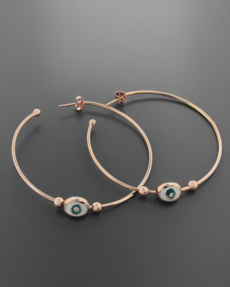 Σκουλαρίκια κρίκοι από ασήμι 925 με σμάλτο   κοσμηματα σκουλαρίκια σκουλαρίκια κρίκοι