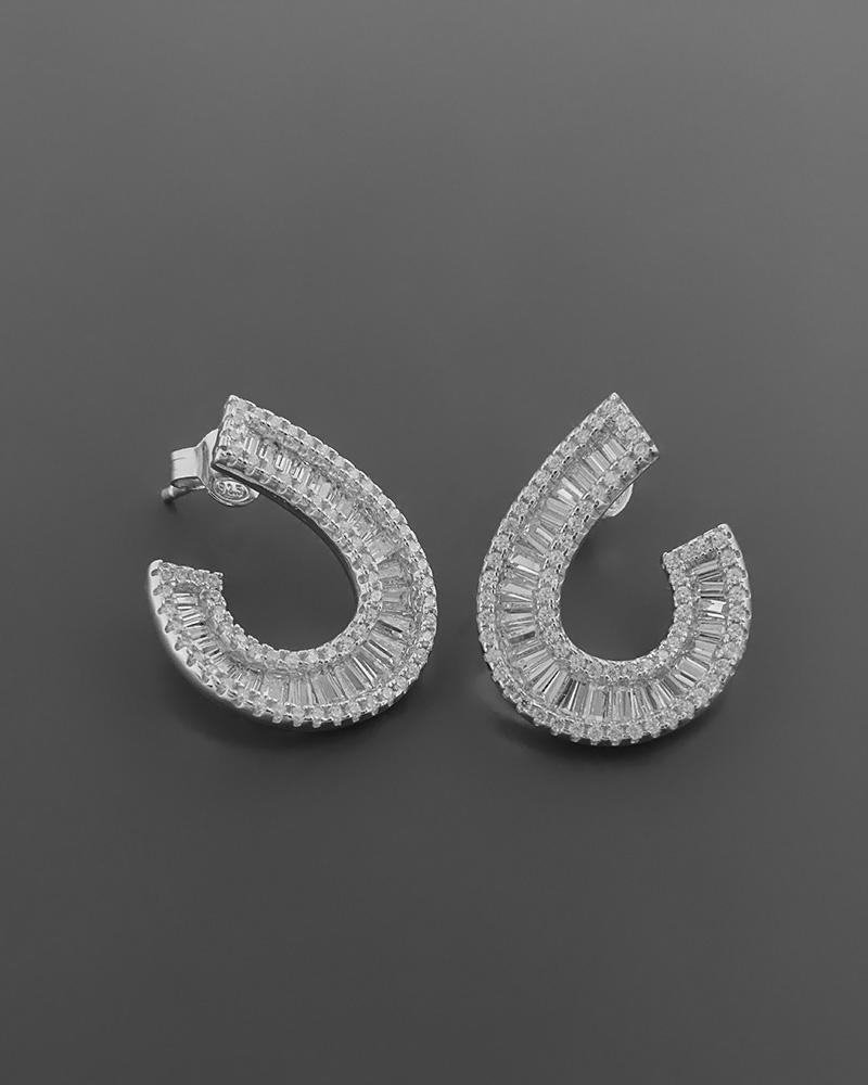 Σκουλαρίκια από ασήμι 925 με ζιργκόν   γυναικα σκουλαρίκια σκουλαρίκια ασημένια