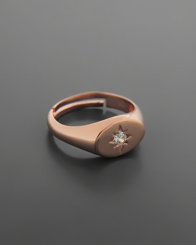 Δαχτυλίδι σεβαλιέ ασημένιο 925 με ζιργκόν   κοσμηματα δαχτυλίδια δαχτυλίδια chevalier