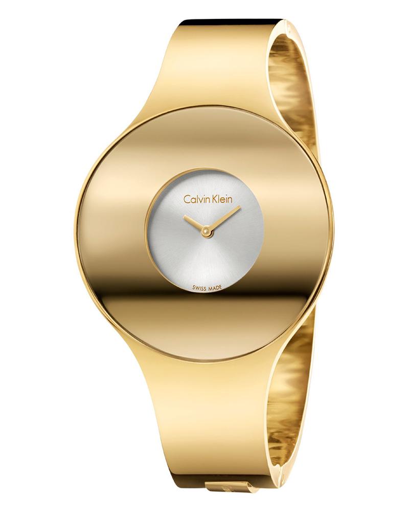 Calvin KLEIN Seamless Gold Stainless Steel Bracelet K8C2M516   brands calvin klein