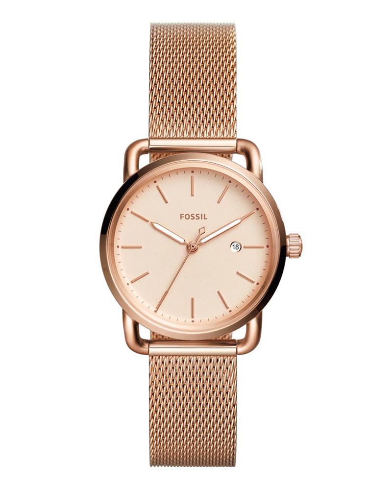 Ρολόι FOSSIL Commuter Rose Gold ES4333   brands fossil