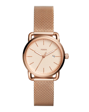 Ρολόι FOSSIL Commuter Rose Gold ES4333