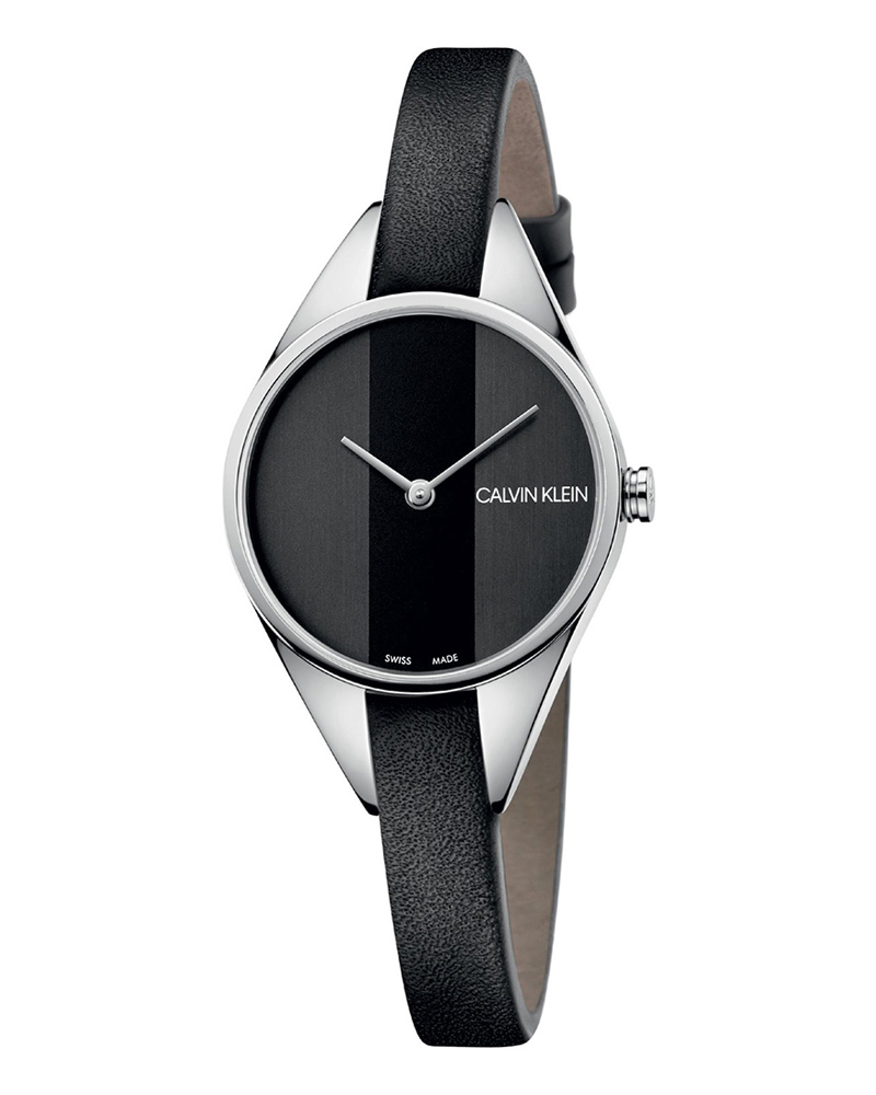 Calvin KLEIN Rebel Black Leather Strap K8P231C1   brands calvin klein
