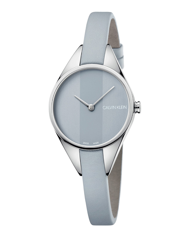 Calvin KLEIN Rebel Grey Leather Strap K8P231Q4   brands calvin klein