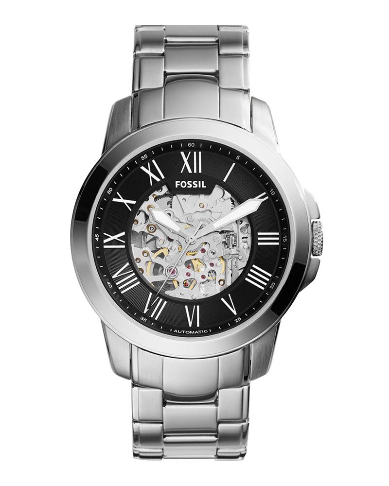 Ρολόι FOSSIL Grant Automatic Silver ME3103   brands fossil