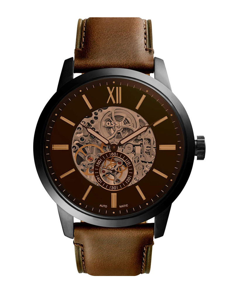 Ρολόι FOSSIL Townsman Automatic Brown ME3155   brands fossil