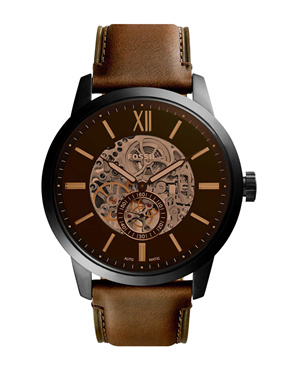 Ρολόι FOSSIL Townsman Automatic Brown ME3155