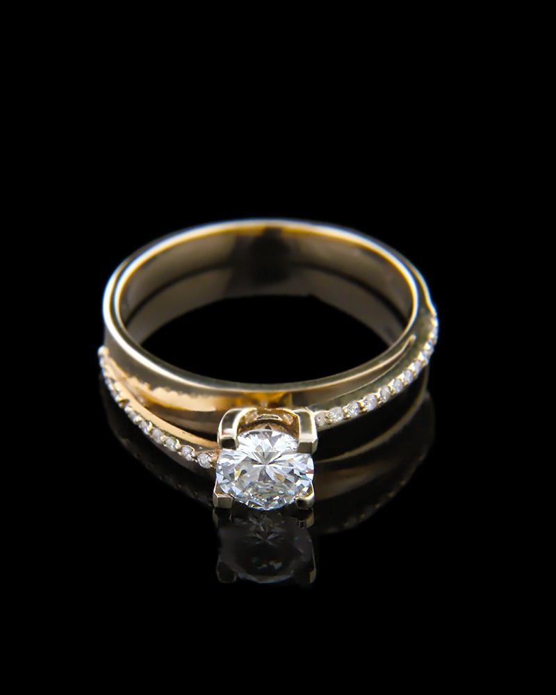 Δαχτυλίδι μονόπετρο χρυσό Κ18 με Διαμάντια   γυναικα δαχτυλίδια δαχτυλίδια χρυσά