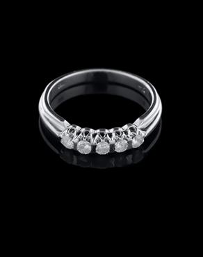 Δαχτυλίδι λευκόχρυσο Κ18 με Διαμάντια 3bbfcb8e645