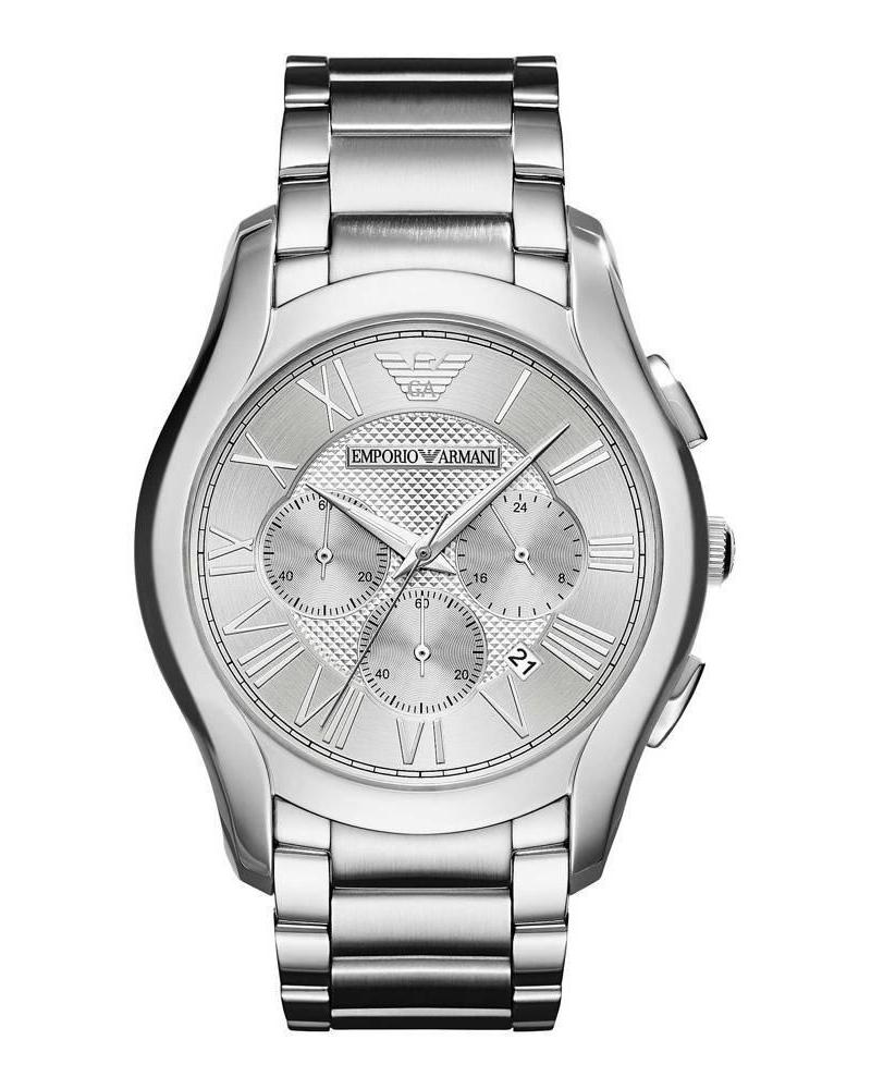 Ρολόι Emporio Armani Valente Chronograph silver AR11081   brands emporio armani