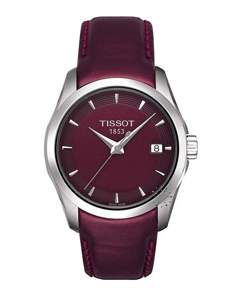 Ρολόι TISSOT T-Trend Couturier Ladies Bordeaux Leather T03521016   ρολογια tissot ladies