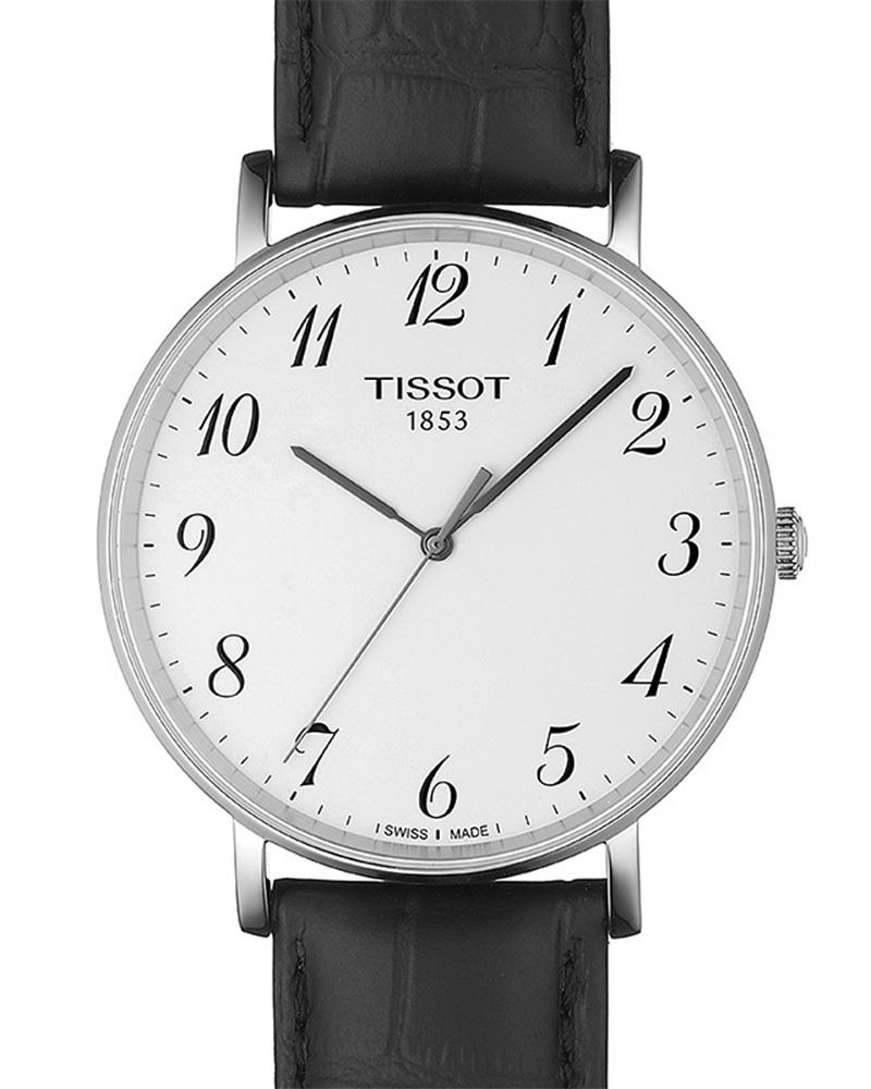 Ρολόι TISSOT T-Classic Everytime Black Leather T1096101603200   brands tissot t classic