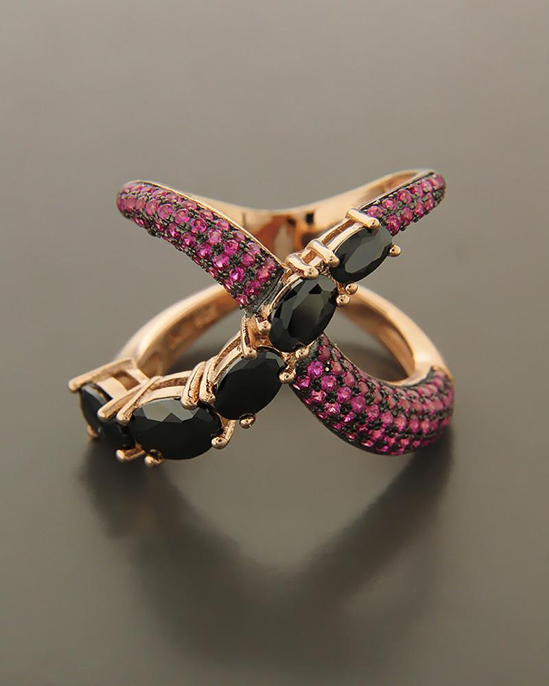 Δαχτυλίδι ασημένιο 925 με ζιργκόν και όνυχα RS3052   κοσμηματα δαχτυλίδια δαχτυλίδια fashion