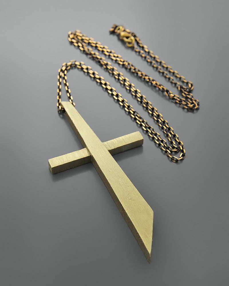 Κολιέ σταυρός από ορείχαλκο   κοσμηματα σταυροί σταυροί fashion