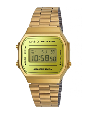 Ρολόι CASIO Collection Gold Stainless Steel A-168WEGM-9EF