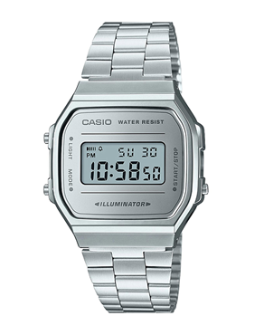 Ρολόι CASIO Collection Chronograph Silver A-168WEM-7EF