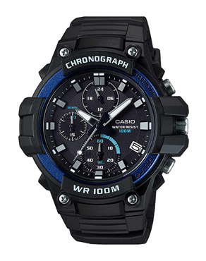 Ρολόι CASIO Collection Black Rubber Strap MCW-110H-2AVEF