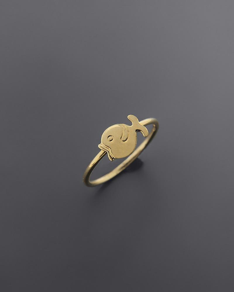 Δαχτυλίδι ψαράκι παιδικό χρυσό Κ18   παιδι δαχτυλίδια παιδικά