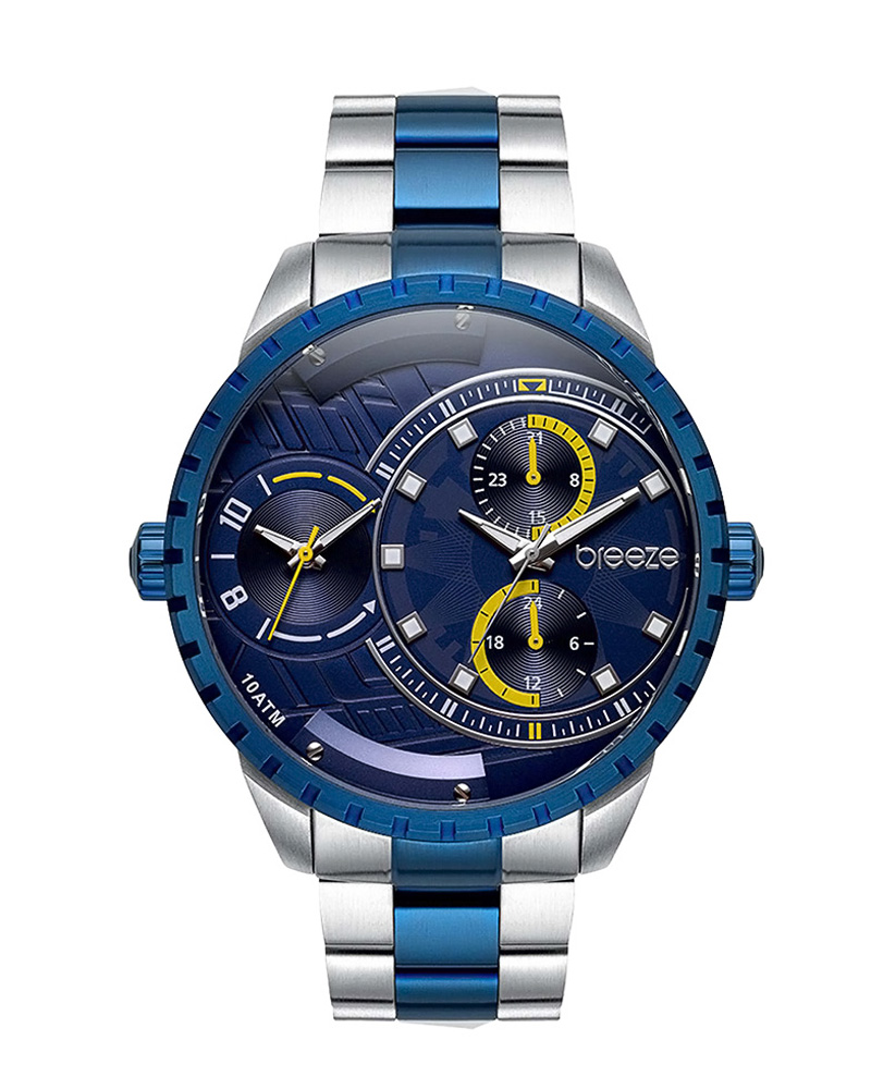 BREEZE Avatar Dual Time Two Tone Stainless Steel 610862.3   brands breeze