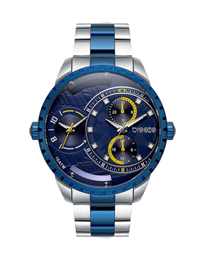 BREEZE Avatar Dual Time Two Tone Stainless Steel 610862.3
