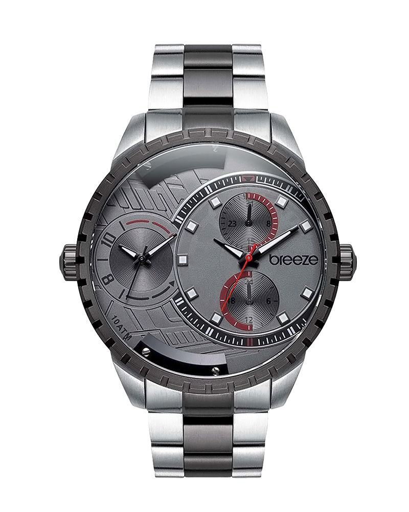 BREEZE Avatar 610862.4 Dual Time Two Tone Stainless Steel   brands breeze