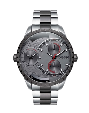 BREEZE Avatar 610862.4 Dual Time Two Tone Stainless Steel