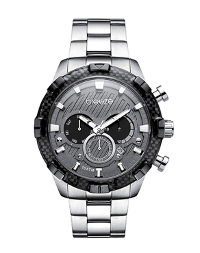 BREEZE Vindicator Dual Time Silver Stainless Steel 610872.2 f8d599e86a1