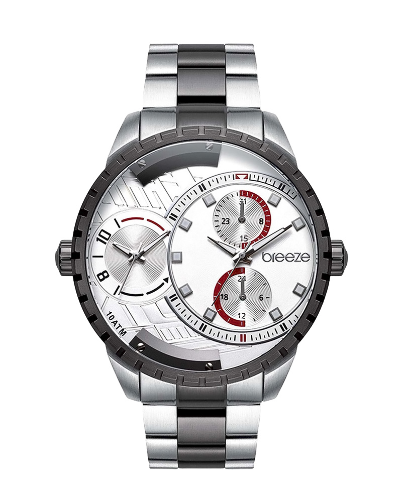 BREEZE Avatar Dual Time Two Tone Stainless Steel 610862.1   brands breeze