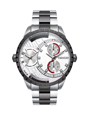 BREEZE Avatar Dual Time Two Tone Stainless Steel 610862.1