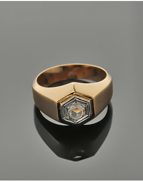 Δαχτυλίδι ροζ χρυσό Κ18 με Διαμάντι a4d616bf032
