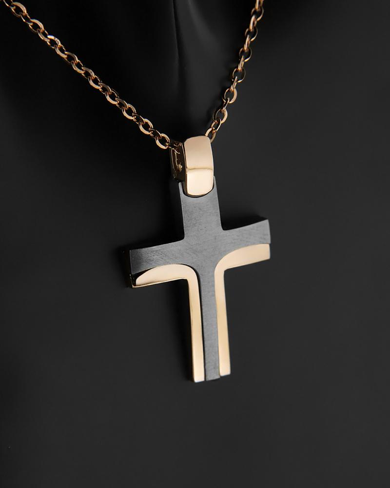 Σταυρός ροζ χρυσός Κ14   παιδι βαπτιστικοί σταυροί βαπτιστικοί σταυροί για κορίτσι