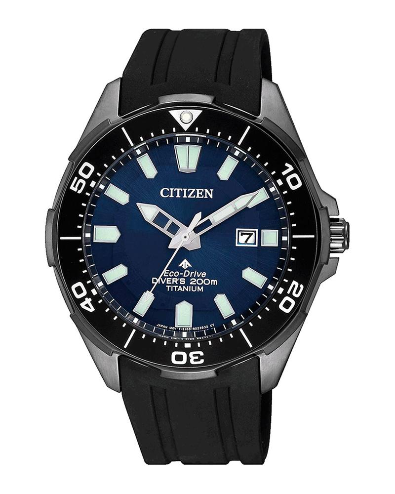 CITIZEN Eco-Drive Titanium Black Rubber Strap BN0205-10L   brands citizen