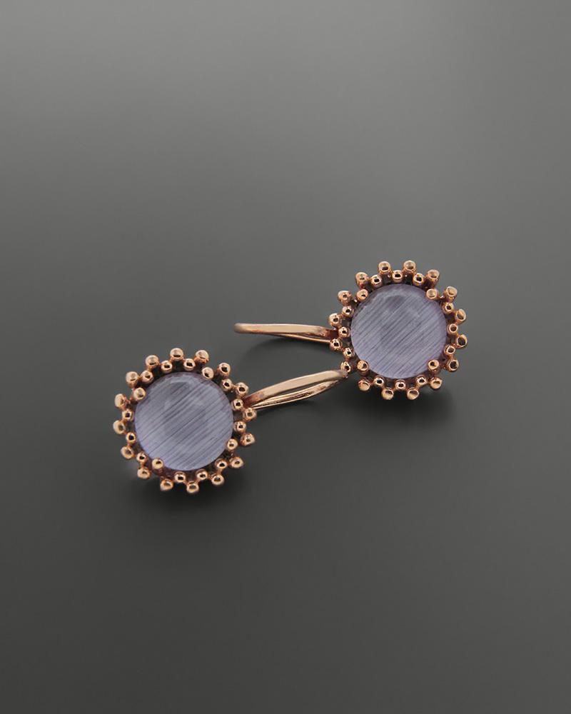 Σκουλαρίκια ασημένια 925 με ημιπολύτιμο λίθο   κοσμηματα σκουλαρίκια σκουλαρίκια ημιπολύτιμοι λίθοι