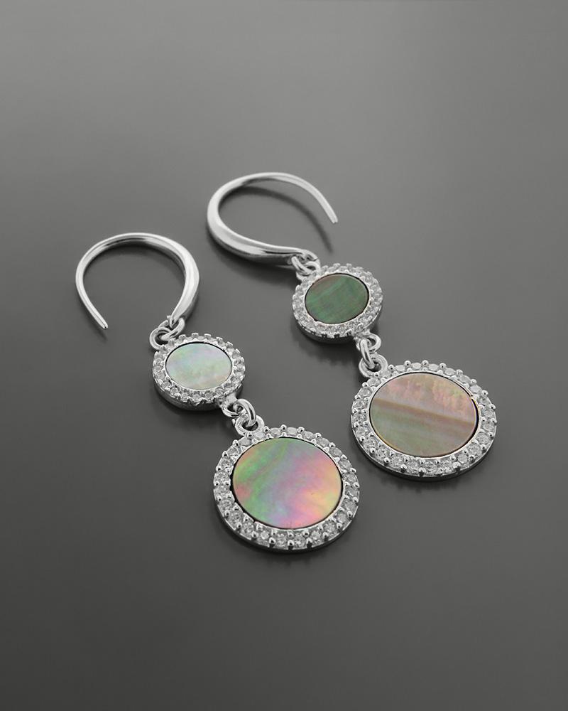 Σκουλαρίκια ασημένια 925 με οπάλιο   κοσμηματα σκουλαρίκια σκουλαρίκια ημιπολύτιμοι λίθοι