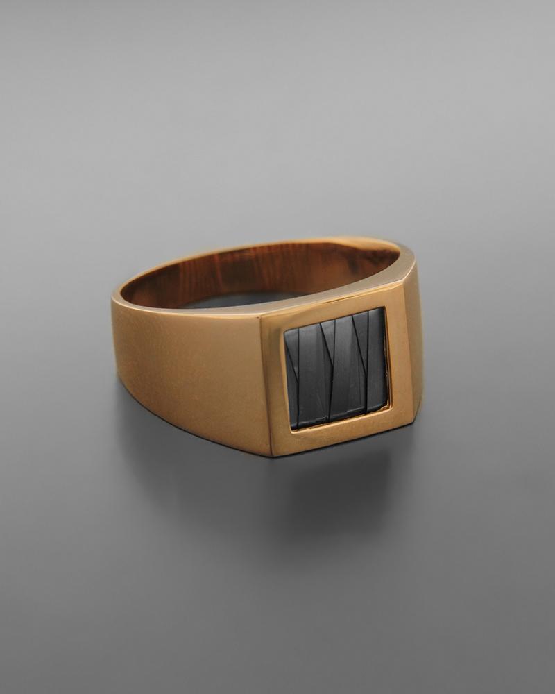 Δαχτυλίδι ανδρικό ροζ χρυσό Κ14   κοσμηματα δαχτυλίδια δαχτυλίδια ανδρικά