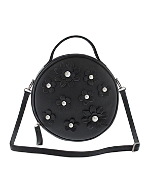 Lefkothea handmade Round Top Handle leather bag TS00169