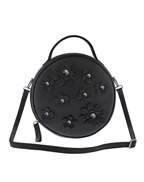 Lefkothea handmade Round Top Handle leather bag TS00171