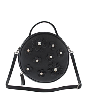 Lefkothea handmade Round Top Handle leather bag TS00172