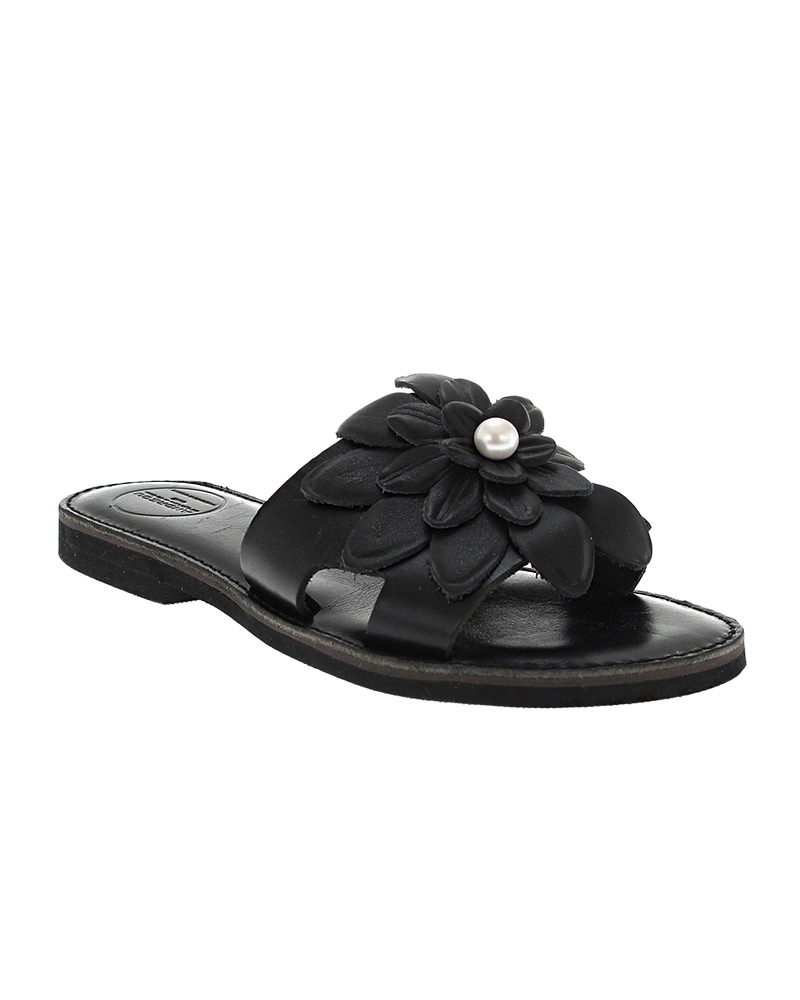 Lefkothea handmade flat leather sandals SAN04B-NFW-1PRW   γυναικα luxury sandals