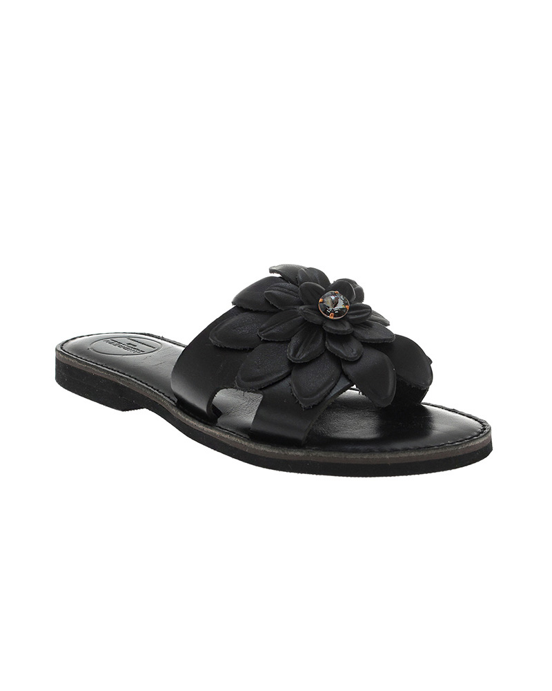 Lefkothea handmade flat leather sandals SAN04B-NFW-1SWG   γυναικα luxury sandals