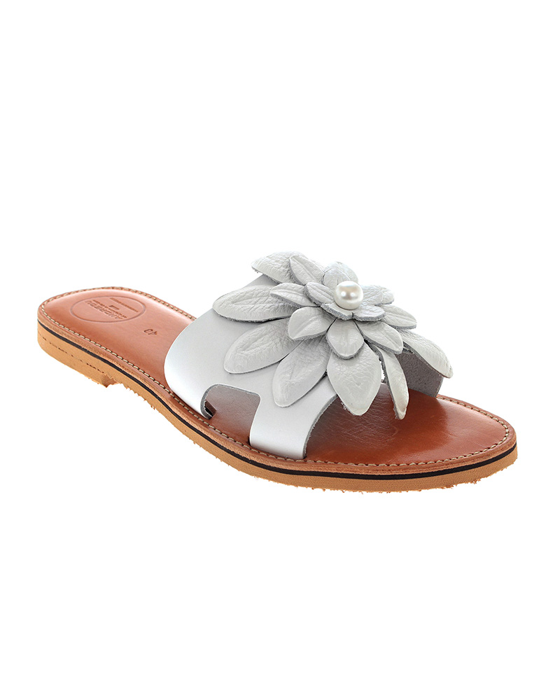 Lefkothea handmade flat leather sandals SAN04W-NFW-1PRW   γυναικα luxury sandals