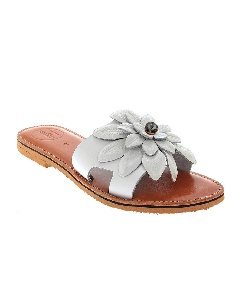 Lefkothea handmade flat leather sandals SAN04W-NFW-1SWG   γυναικα luxury sandals
