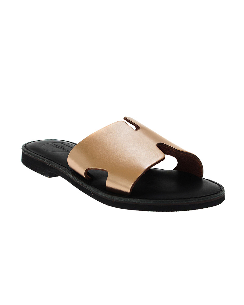 Cyclades handmade flat leather sandals SAN04N-NHERM-RG   γυναικα luxury sandals
