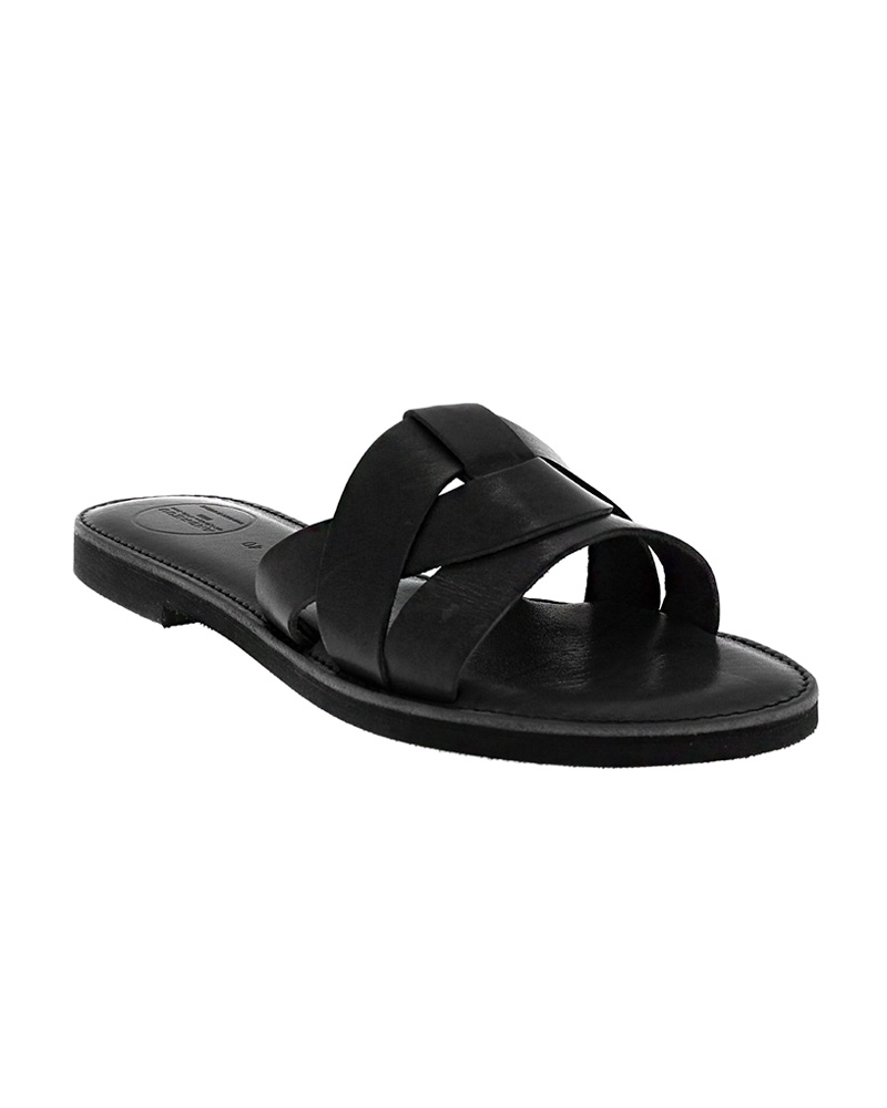 Cyclades handmade flat leather sandals SAN04N-NTHREE-B   γυναικα luxury sandals