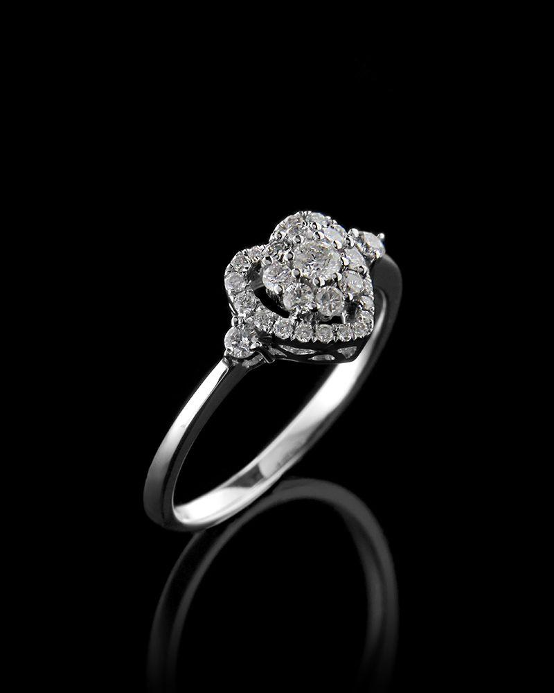 Δαχτυλίδι Με Διαμάντια Καρδιά   γαμοσ μονόπετρα μονοπετρα με διαμάντια